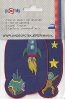 Pronty opstrijkb. kniestukken raket blauw, 2 stuks