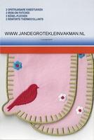 Pronty opstrijkb. kniestukken vogel rose, 2 stuks