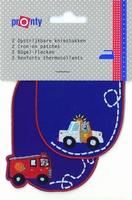 Pronty opstrijkb.kniestukken politie/brandweer blauw, 2 st.