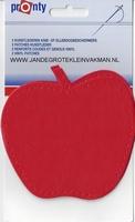 Pronty opnaaibaar kunstleder, appel rood, 2 st.