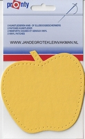 Pronty opnaaibaar kunstleder, appel geel, 2 st.