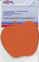 Pronty opnaaibaar kunstleder, appel oranje, 2 st.