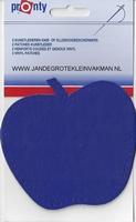 Pronty opnaaibaar kunstleder, appel blauw, 2 st.