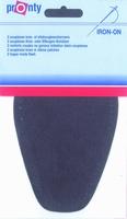 Pronty opstrijk- opnaaibare kniestukken, d. grijs, 2 stuks