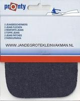 Pronty opstrijkb.  knie- elleboogstukken, jeans don, 2 stuks