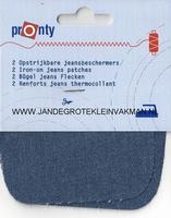 Pronty opstrijkb.  knie- elleboogstukken, jeans mid, 2 stuks