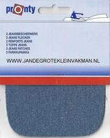 Pronty opstrijkb.  knie- elleboogstukken, jeanslich, 2 stuks