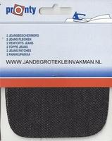 Pronty opstrijkb.  knie- elleboogstukken, jeans zwt, 2 stuks