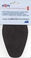 Pronty opstrijk- opnaaibare elleboogstukken d. bruin, 2 st.