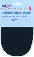 Pronty kunstlederen elleboogstukken, d. blauw, 2 stuks