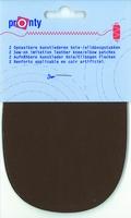 Pronty kunstlederen elleboogstukken, m. bruin, 2 stuks