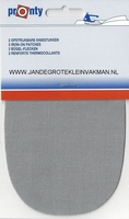 Pronty opstrijkbare knie-elleboogstukken, l-grijs, 2 stuks