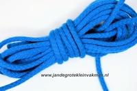Capuchonkoord, blauw, Ø3,5mm, prijs per meter