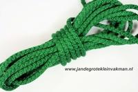Capuchonkoord, groen, Ø3,5mm, prijs per meter