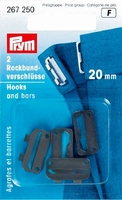 Prym rokhaak sluiting zwart 20 mm, 2 stuks