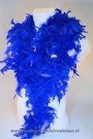 Mooie boa van vogelveren, blauw