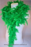 Mooie boa van vogelveren, groen
