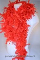 Mooie boa van vogelveren, rood