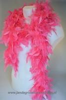 Mooie boa van vogelveren, roze