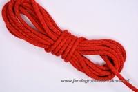 Capuchonkoord, rood, Ø3,5mm, prijs per meter