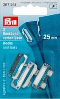 Prym rokhaak sluiting zilver 25 mm, 2 stuks