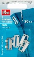 Prym rokhaak sluiting zilverkleur 20 mm, 2 stuks