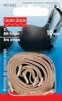 Goldzack BH bandjes, huidkleur 10mm, 2 stuks