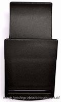 Klepgesp, kunststof, zwart, 25mm