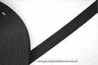 Koppelband, zwart, 30mm, per meter