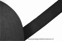 Koppelband, zwart, 50mm, per meter