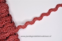 Zigzag band, ca. 5mm breed, per meter, dessin
