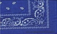 Bandana kobaltblauw