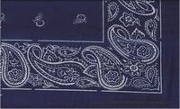Bandana marineblauw