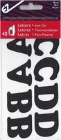 Applicatie alfabet, 40 letters 32mm hoog, zwart