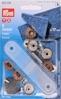 Prym Jeansknopen, 17mm, bronskleurig, 6 stuks