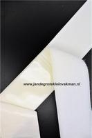 Zelfklevend klittenband YKK, 50mm breed, wit, per meter