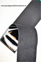 Zelfklevend klittenband YKK, 100mm breed, zwart, per meter