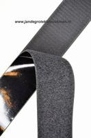Zelfklevend klittenband YKK, 50mm breed, zwart, per meter