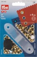 Prym zeilringen, goudkleurig, 50 stuks, 4mm