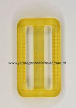 Koppelband sluitingen transparant geel
