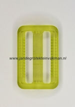 Koppelband sluitingen transparant groen