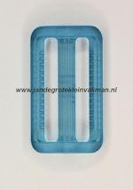 Koppelband sluitingen transparant lichtblauw