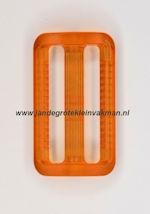 Koppelband sluitingen transparant oranje