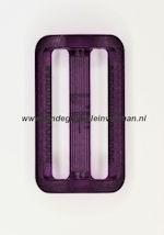 Koppelband sluitingen transparant paars
