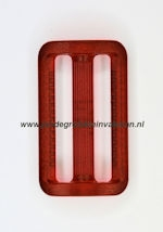 Koppelband sluitingen transparant rood
