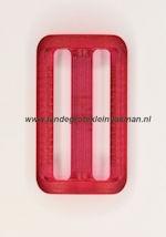 Koppelband sluitingen transparant roze
