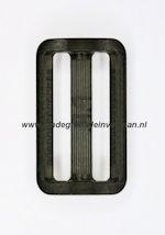 Koppelband sluitingen transparant zwart